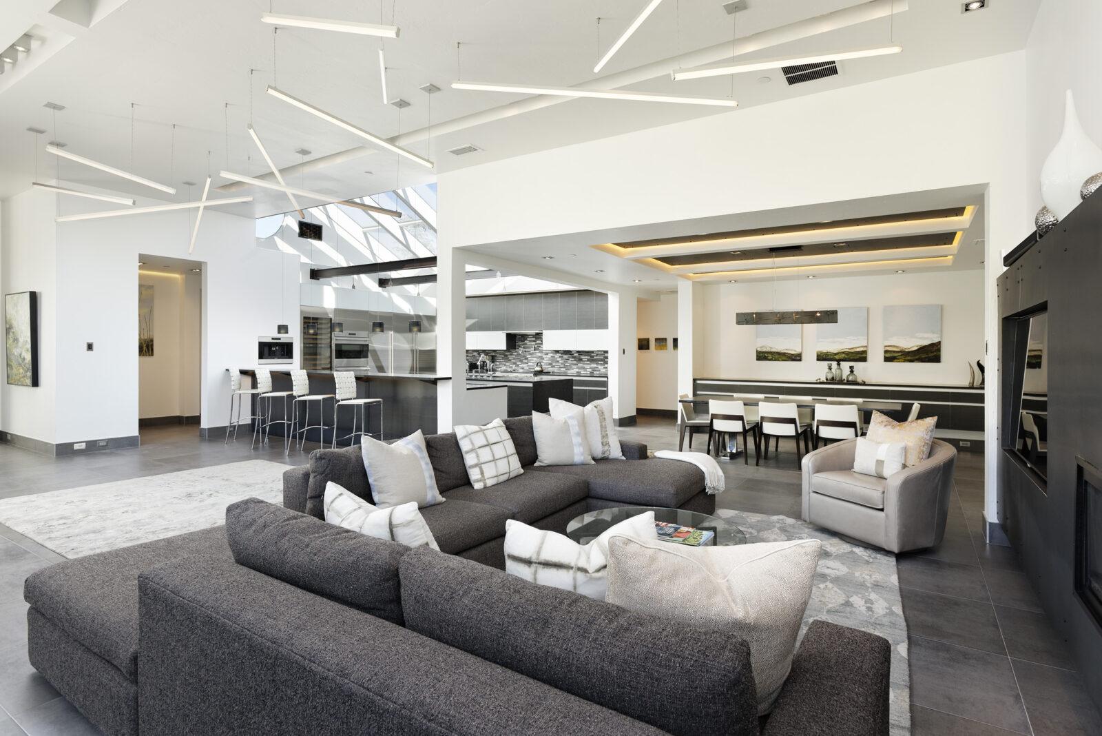 Open living room at 620 E Hyman in Aspen, CO