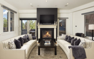 Interior living room at Obermeyer 201 in Aspen