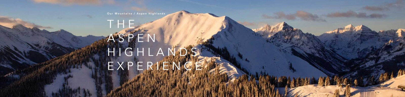 The Aspen Highlands Experience banner image